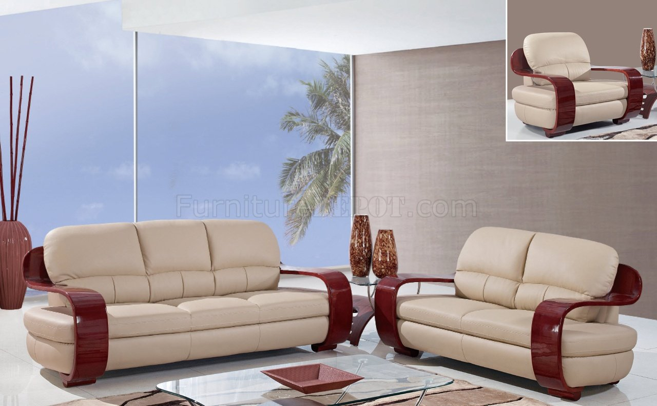 Ua230 sofa in cappuccino leatherette by global furniture usa for Divan furniture usa