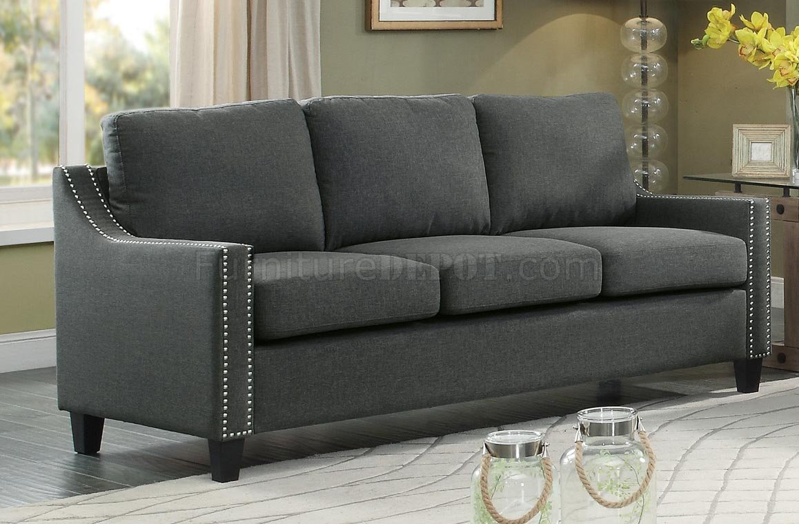 Pagosa Sofa 8328 In Dark Grey Fabric By Homelegance W Options