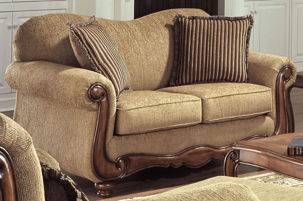 Throw Pillows For A Tan Couch : Tan Fabric Sofa Rustic Sofas Chairs Southern Creek Furnishings - TheSofa