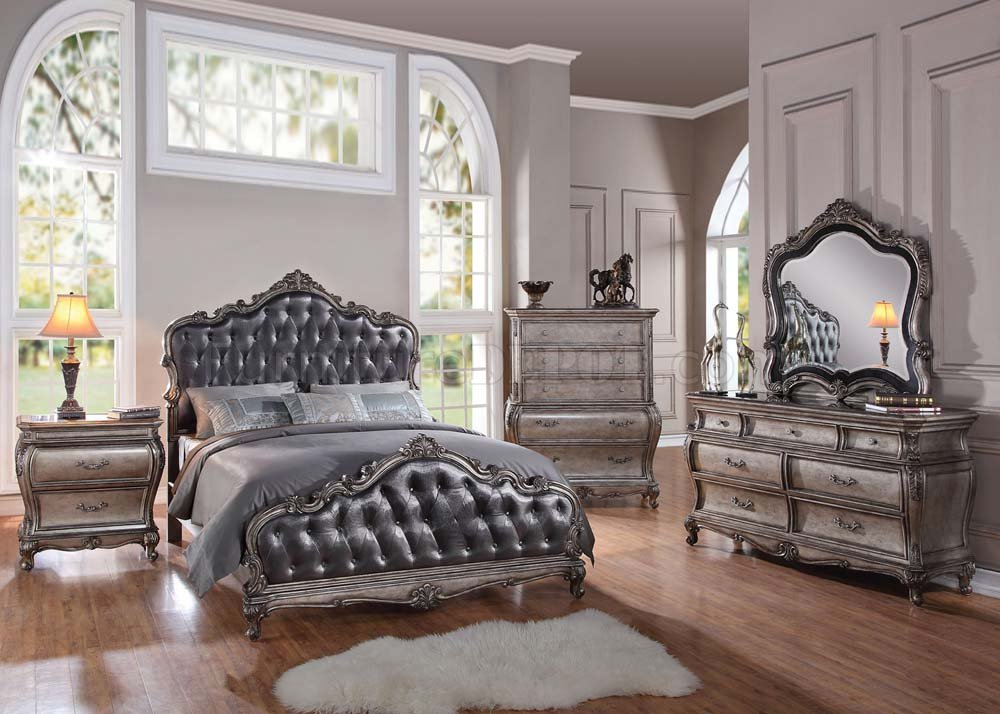 master bedroom set chantelle bedroom by acme 12330