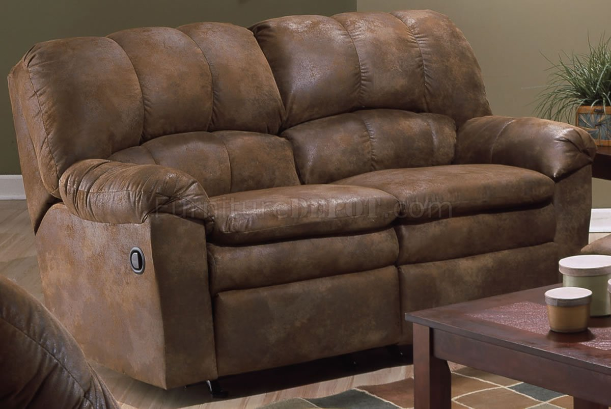 Saddle Special Treated Microfiber Reclining Sofa Amp Loveseat