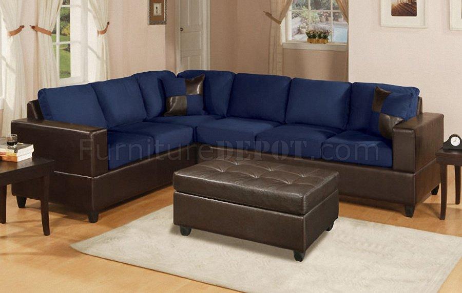 Microfiber Contemporary Sectional Sofa