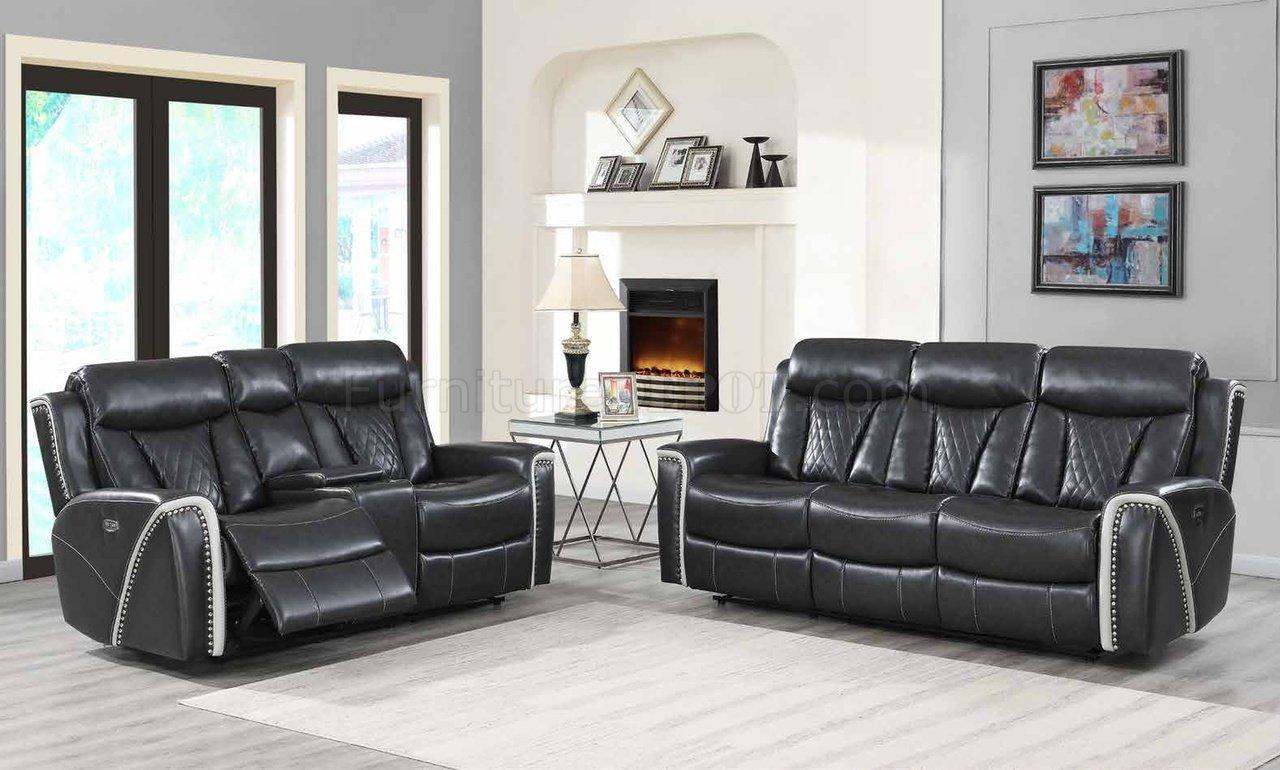 Superb U1800 Power Motion Sofa In Grey Leather Gel By Global W Options Frankydiablos Diy Chair Ideas Frankydiabloscom