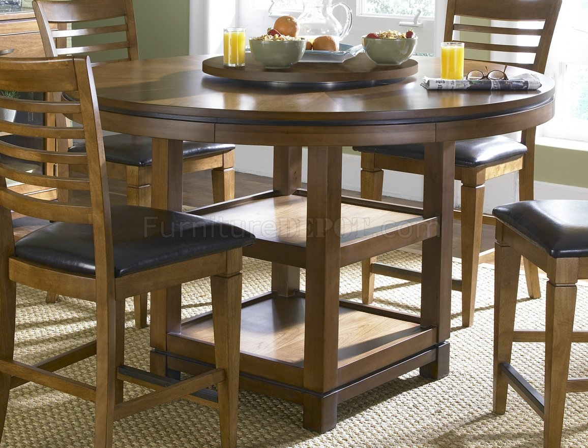 bronze spice finish pub table w storage shelves. Black Bedroom Furniture Sets. Home Design Ideas