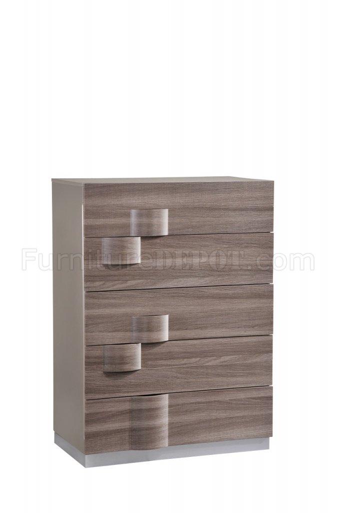 Bedroom in Grey & Zebra Wood by Global w/Optional Casegoods