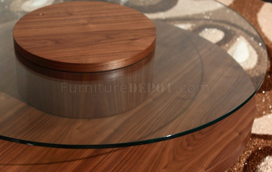 Revere Circle Coffee Table By Beverly Hills In Walnut