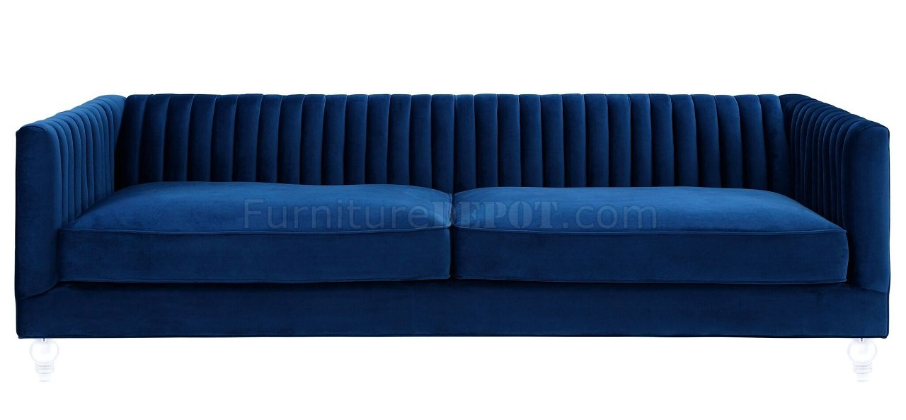 c8a58c58788e8e Aviator Sofa TOV-S101 in Navy Velvet Fabric by TOV Furniture