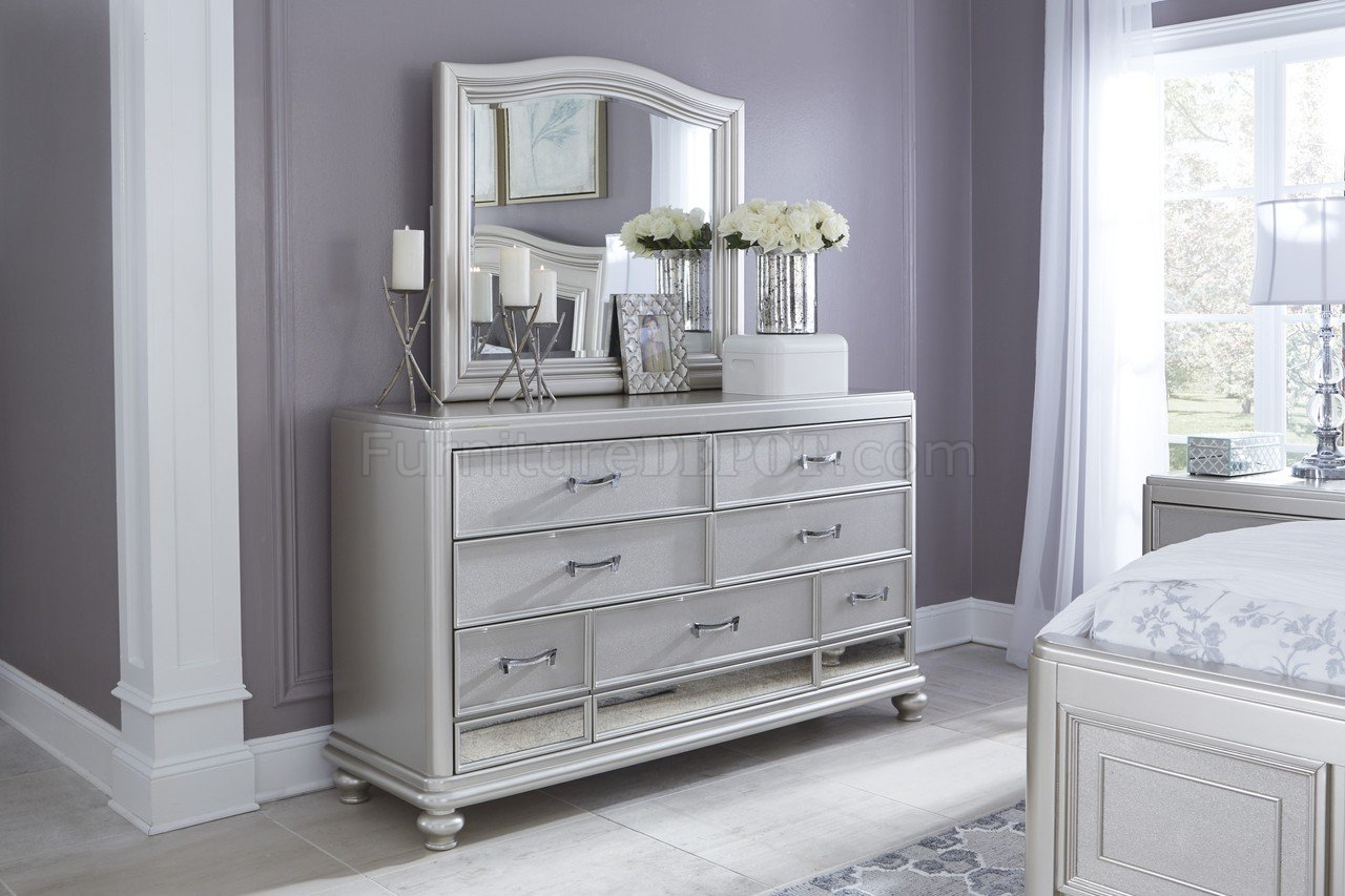 Coralayne Bedroom B650 In Silver Finish By Ashley Furniture