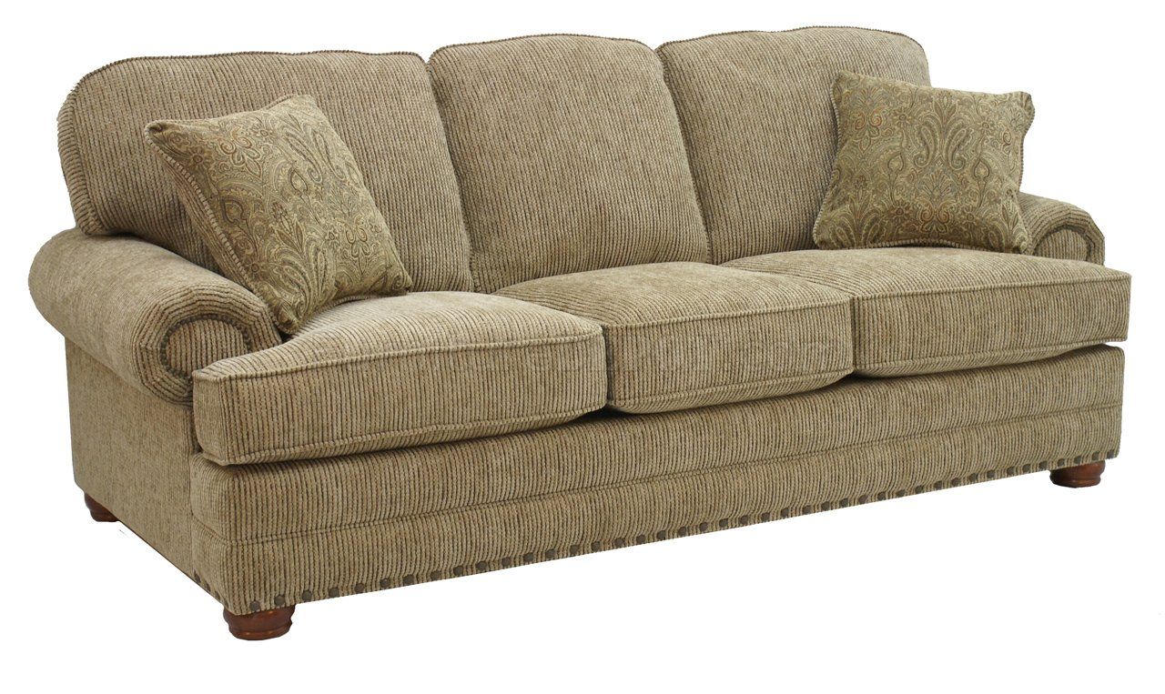 Sand Chenille Fabric Modern Sofa Loveseat Set W Optional Items