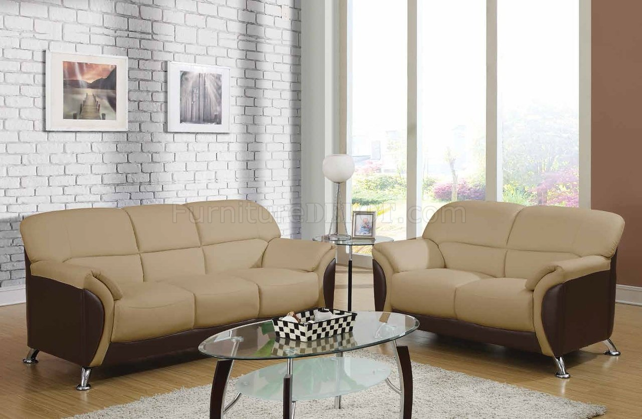 U9103 sofa in cappuccino leatherette by global furniture usa