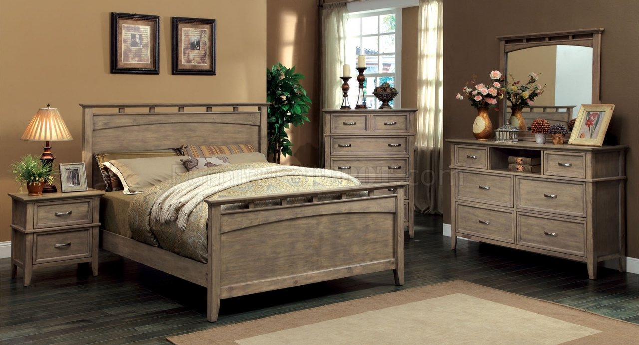 Cm7351 Loxley Bedroom In Weathered Oak W Options