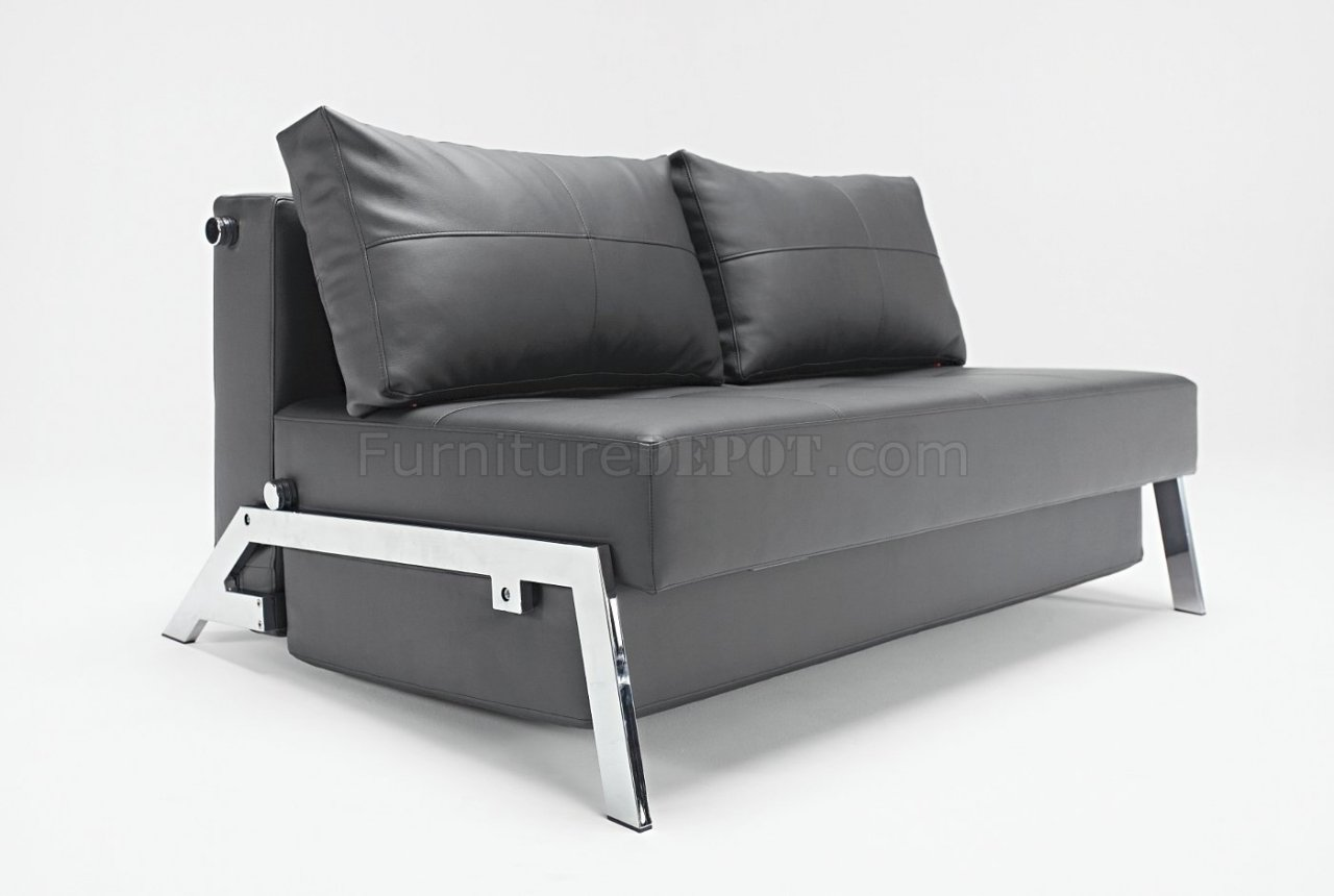Cubed Deluxe Black Loveseat Convertible Bed by Innovation
