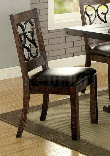 Paulina Dining Table Cm3465t In Rustic Walnut W Options