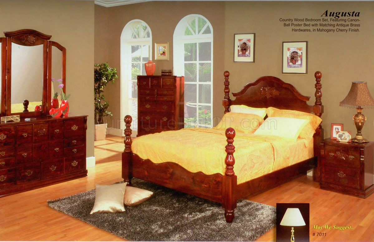 mahogany cherry finish transitional bedroom w optional casegoods mabs
