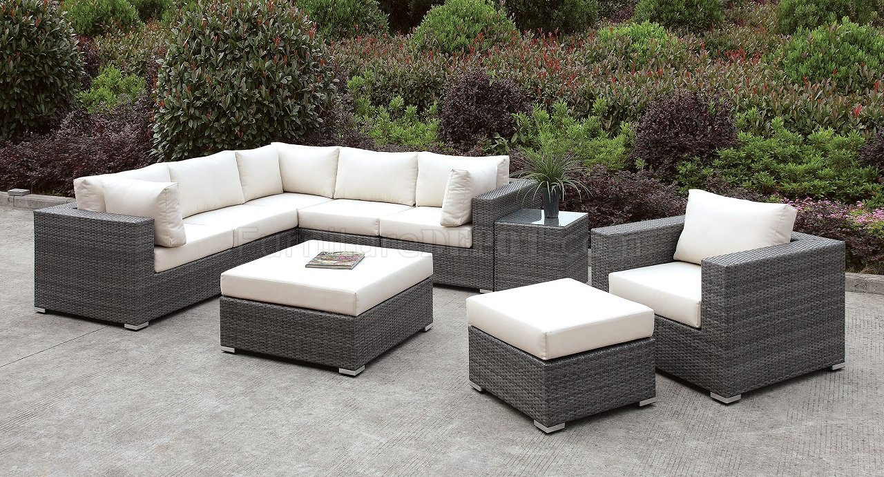 Amazing Somani Cm Os2128 9 Outdoor Patio Sectional Sofa Set Short Links Chair Design For Home Short Linksinfo