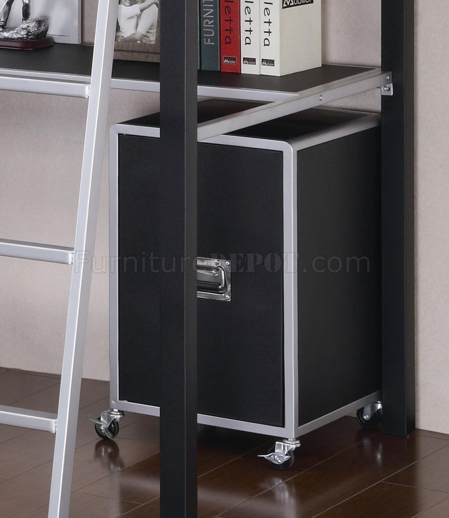 Black silver two tone modern twin loft bed w optional items - Modern tuinmodel ...