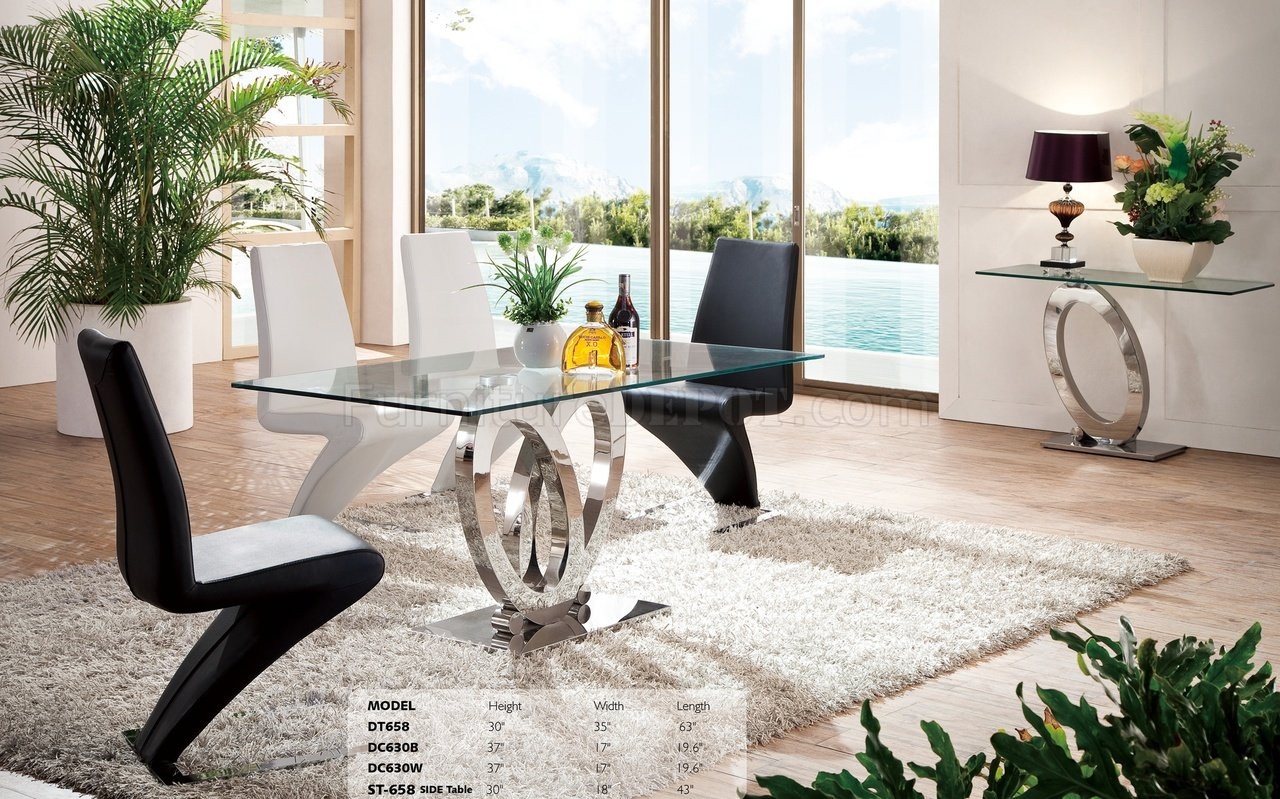 Dt658 Dining Table W Glass Top Amp Optional Items By Pantek