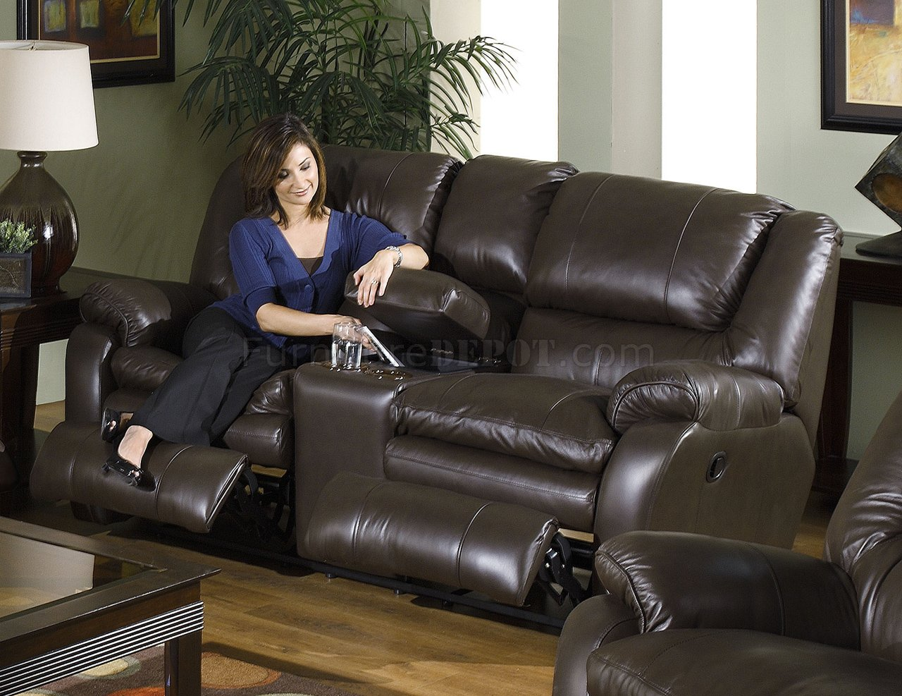 catnapper coffee top grain leather allegro reclining sofa set. Black Bedroom Furniture Sets. Home Design Ideas