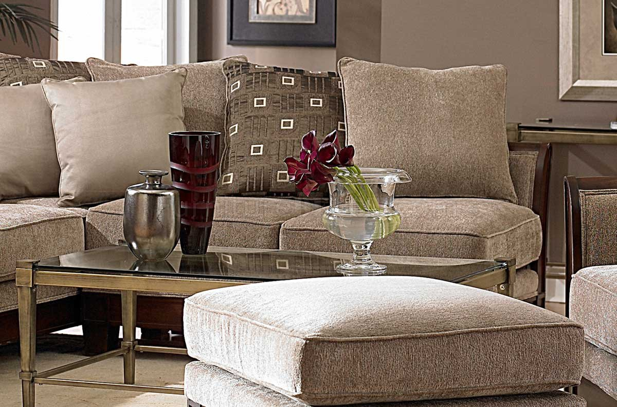 9927 Trenton Sectional Sofa By Homelegance - Tan Chenille Fabric