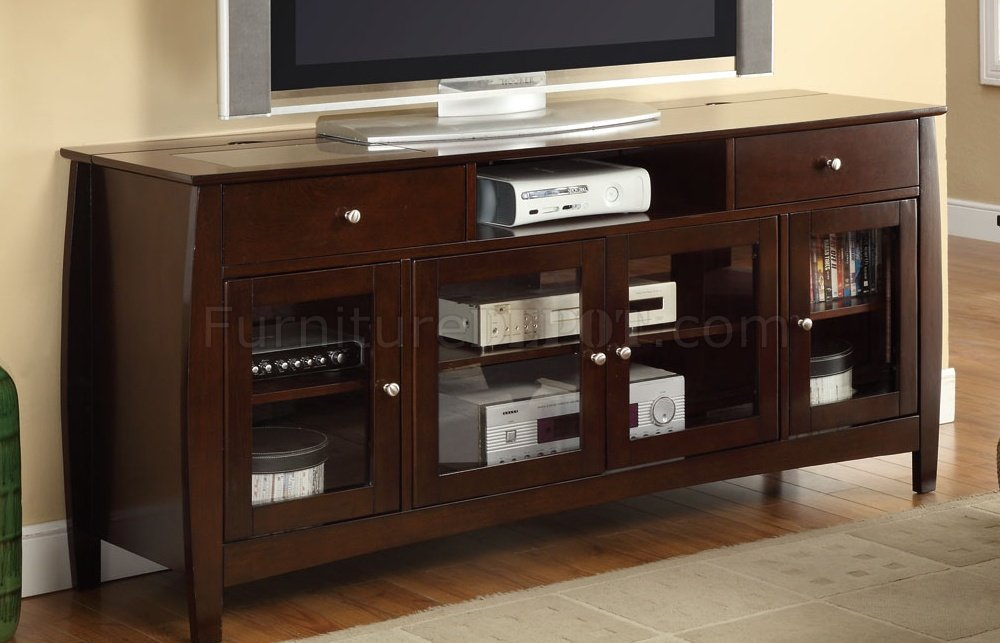 700693 Tv Stand In Dark Oak By Coaster