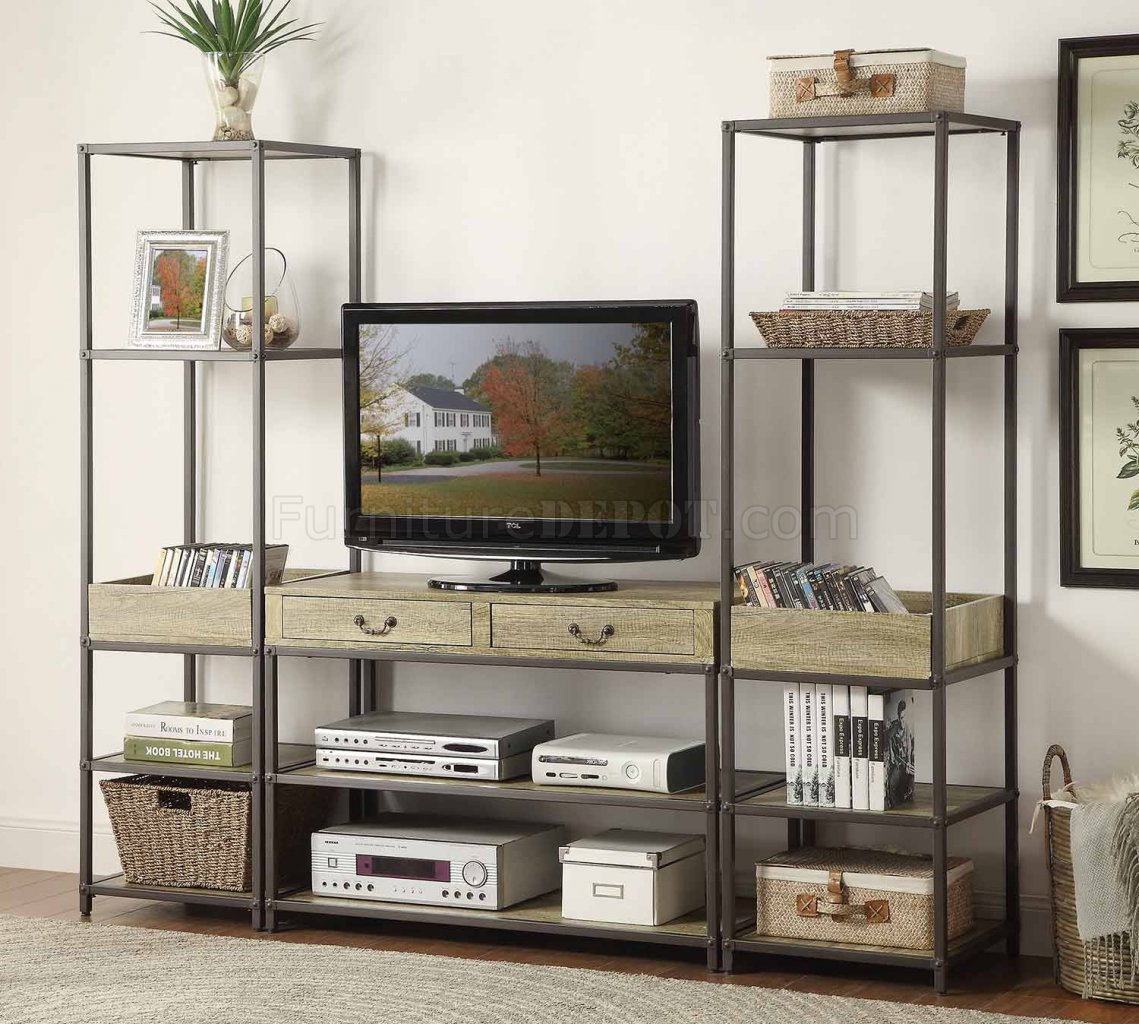 Rumi Entertainment Unit 5264 Light Burnished Wood By