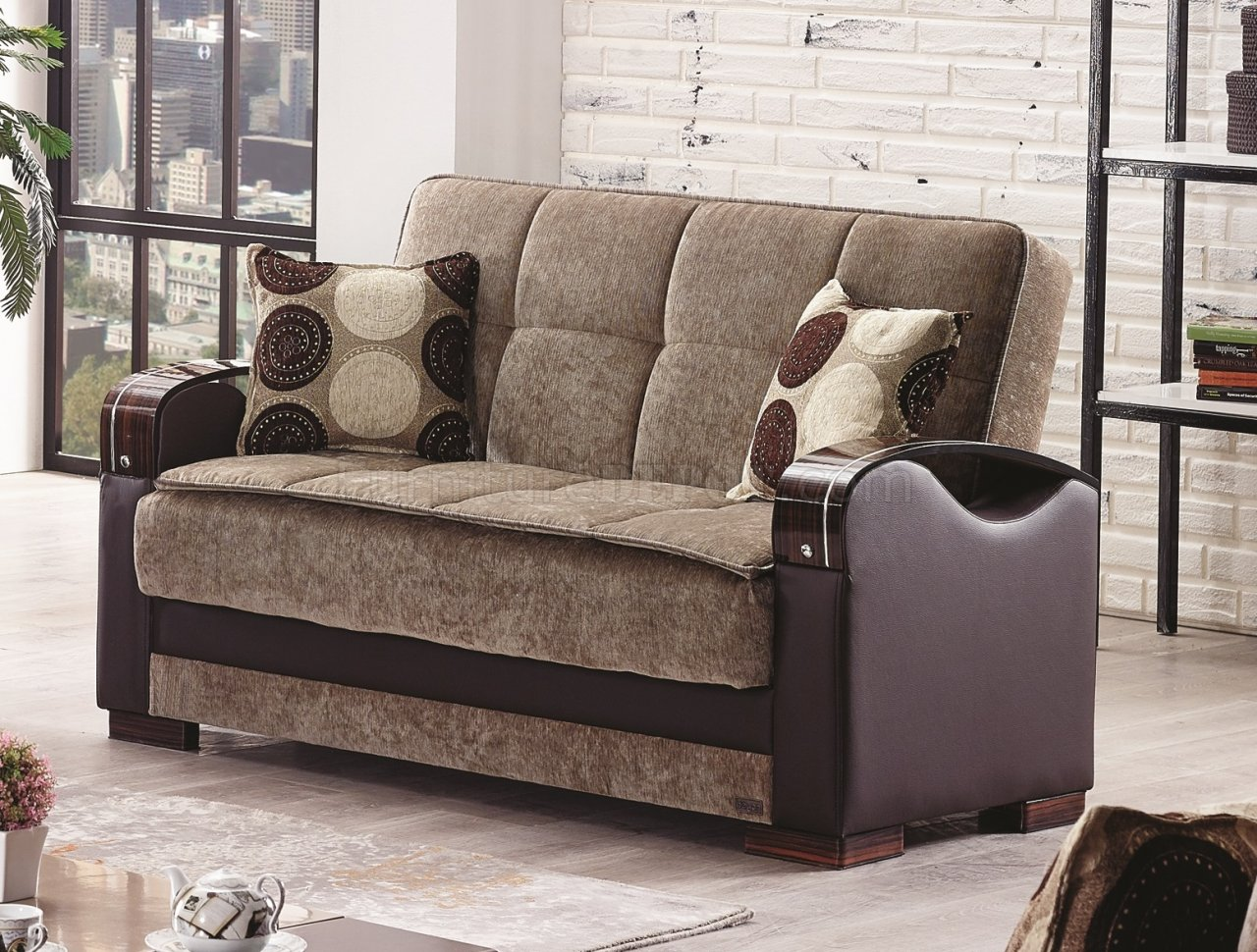 Rochester Sofa Bed In Light Brown Fabric By Empire W Options