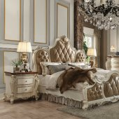 picardy bedroom in antique pearl by acme woptions new