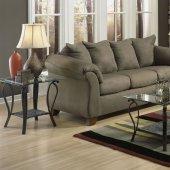 Superb Sage Microfiber Elegant Modern Sofa U0026 Loveseat Set W/Options