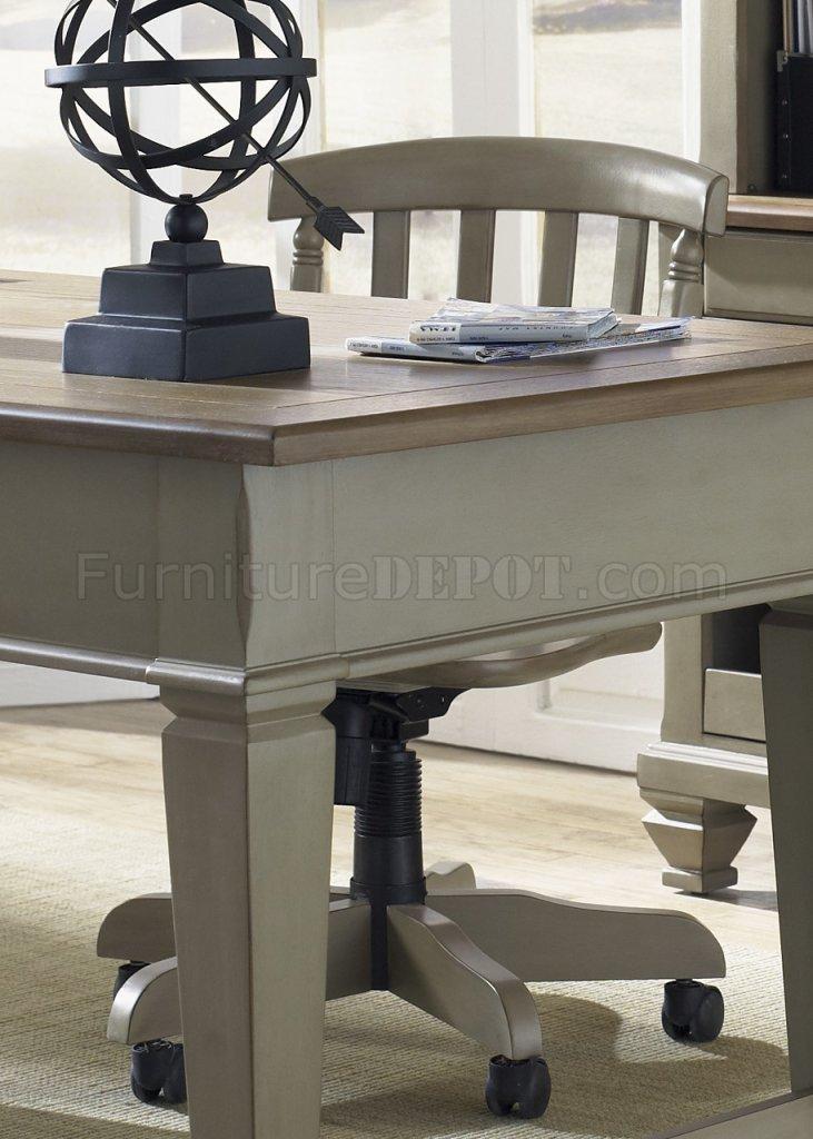 Bungalow Jr Executive Desk 3pc Set 541 Hoj In Taupe Driftwood