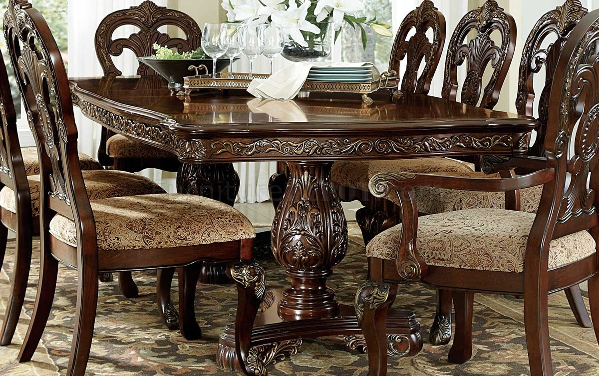 Deryn park 2243 114 dining table by homelegance w options for Table options