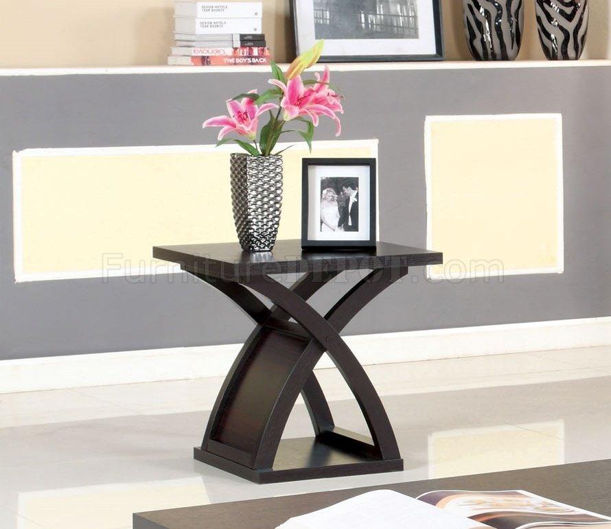 CM4641 Arkley Coffee Table U0026 2 End Tables 3Pc Set In Espresso