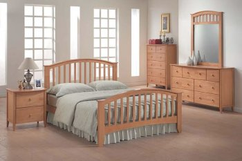 Reviews 09170 san marino bedroom set in maple finish by acme - Contemporary maple bedroom furniture ...