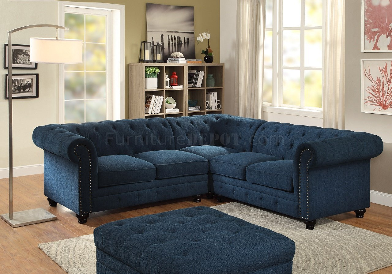 Stanford ii sectional sofa cm6270tl in dark teal w options