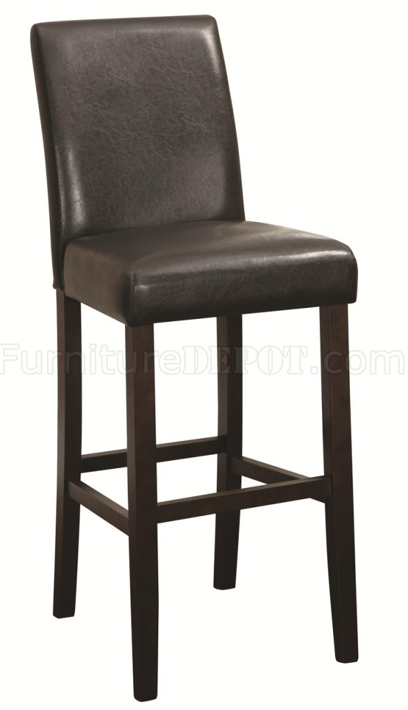 Counter Height Chairs Set Of 4 : 130060 Bar Height Chair Set of 4 in Dark Brown by Coaster CRBA 130060