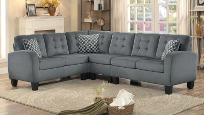 reclining leather sofa sinclair sectional sofa 8202gry sc in grey fabric by 10445