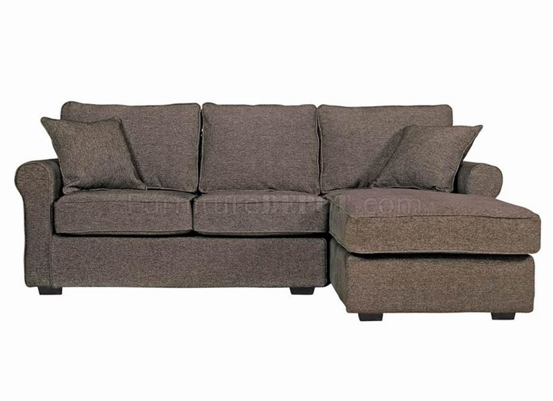Contemporary small sectional sofa in charcoal fabric for Small sectional sofa