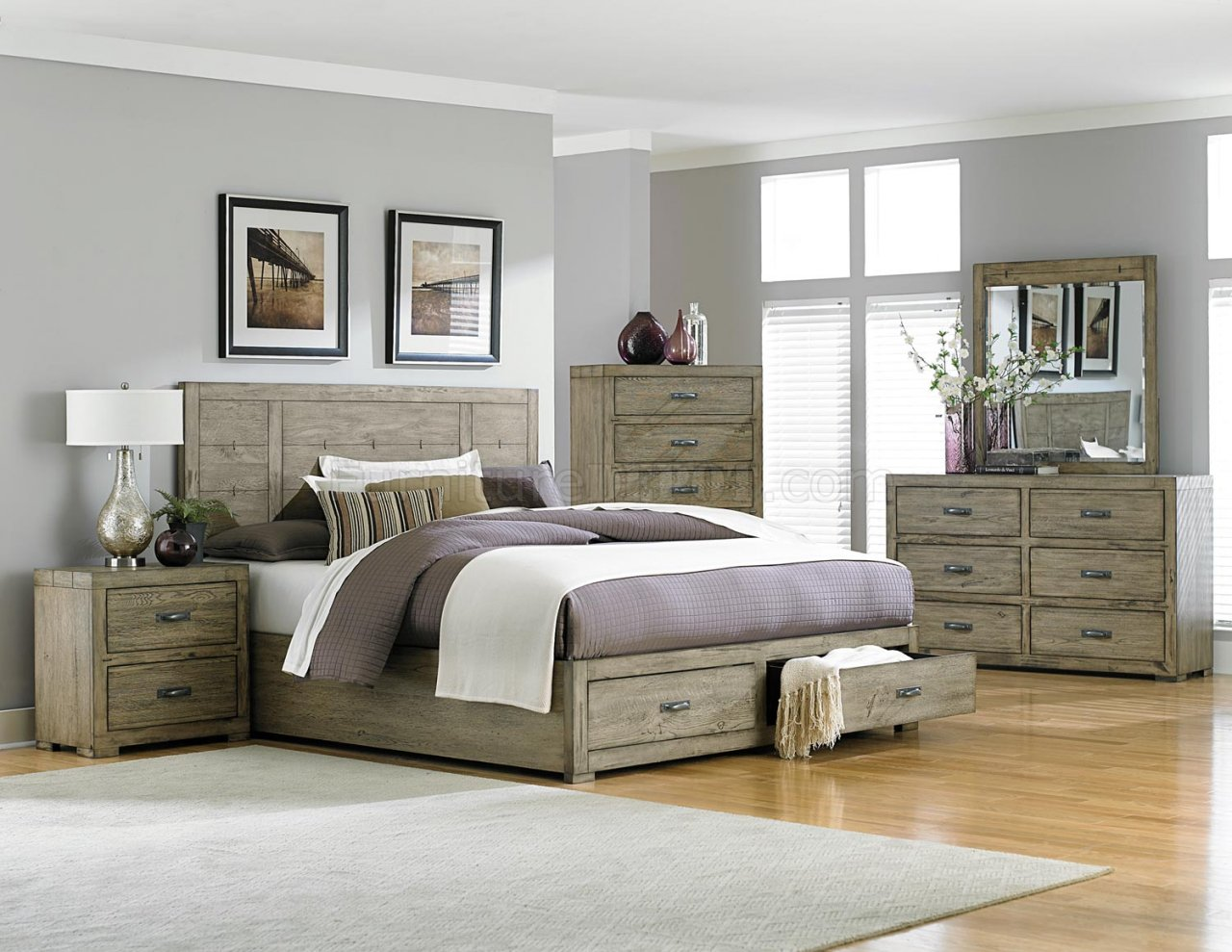 abbott 2297 bedroom in driftwood by homelegance w options hebs 2297