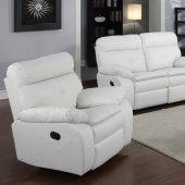 Brown Bonded Leather Modern Reclining Sofa Amp Loveseat Set
