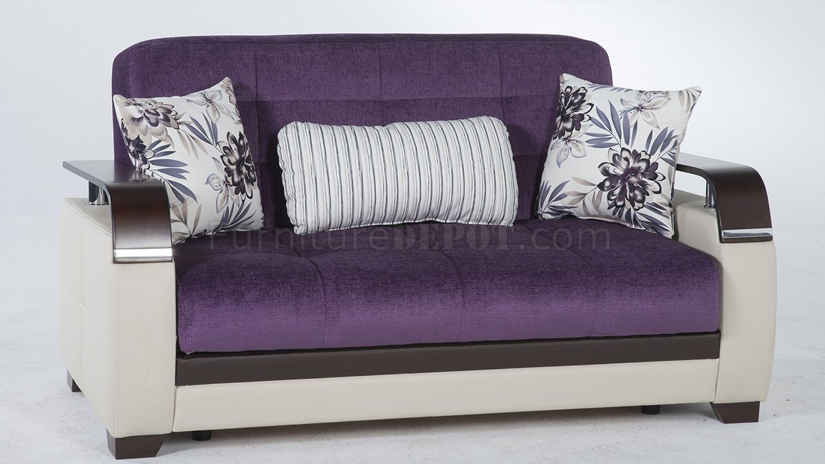 Natural Prestige Purple Sofa Bed By Sunset W Options