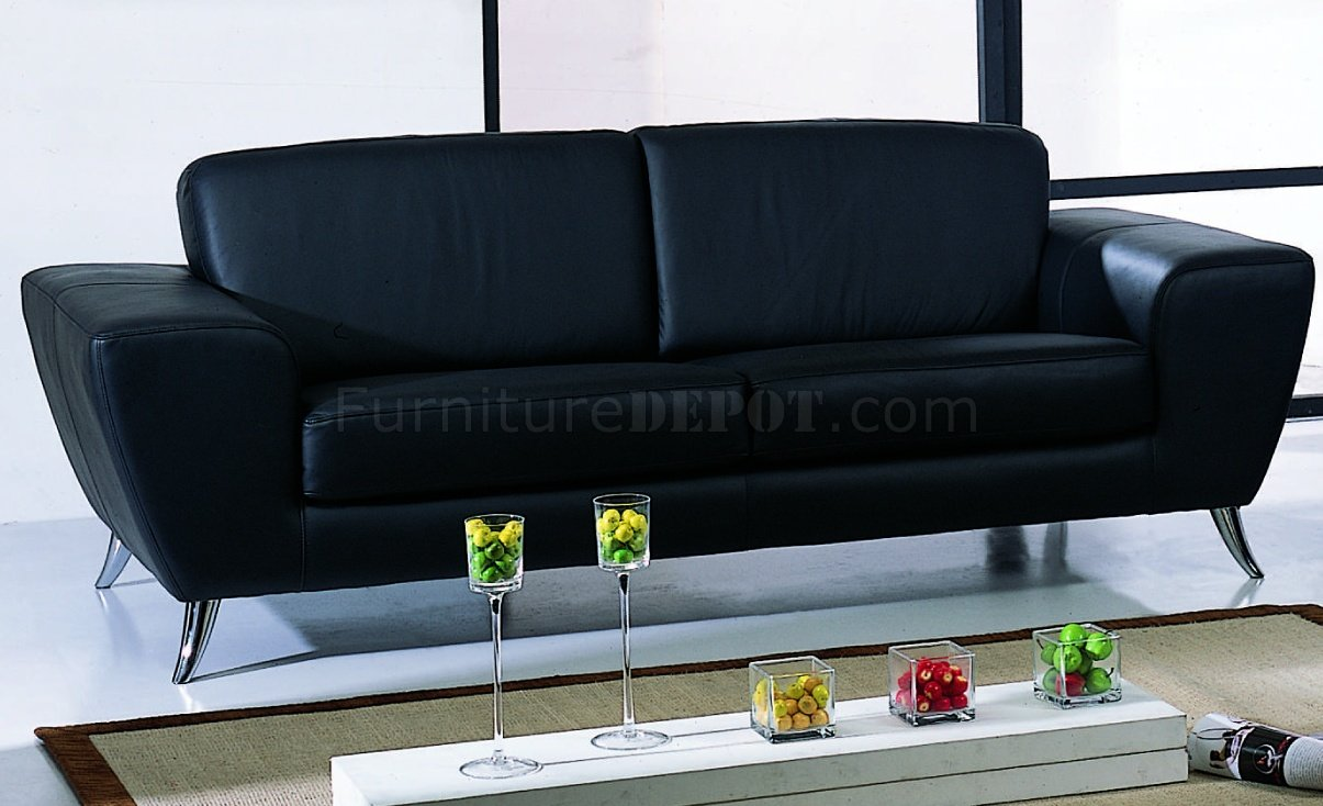 Black leather match upholstery living room set for Matching living room sets