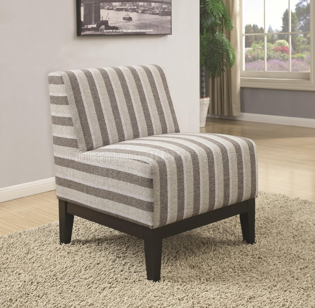 902610 Accent Chair Set Of 2 In Striped Fabric By Coaster