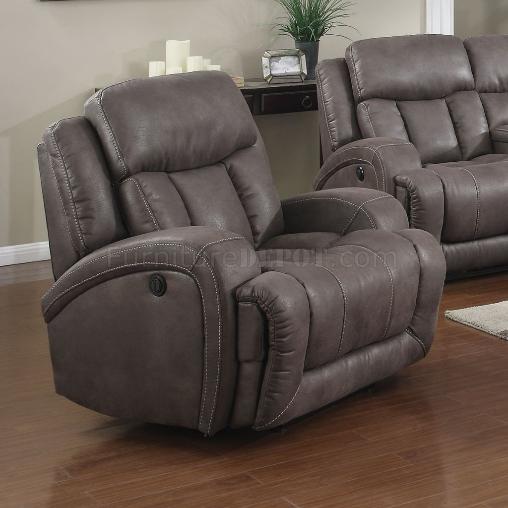 Morgan Creek Power Reclining Sofa Set Taupe Microfiber