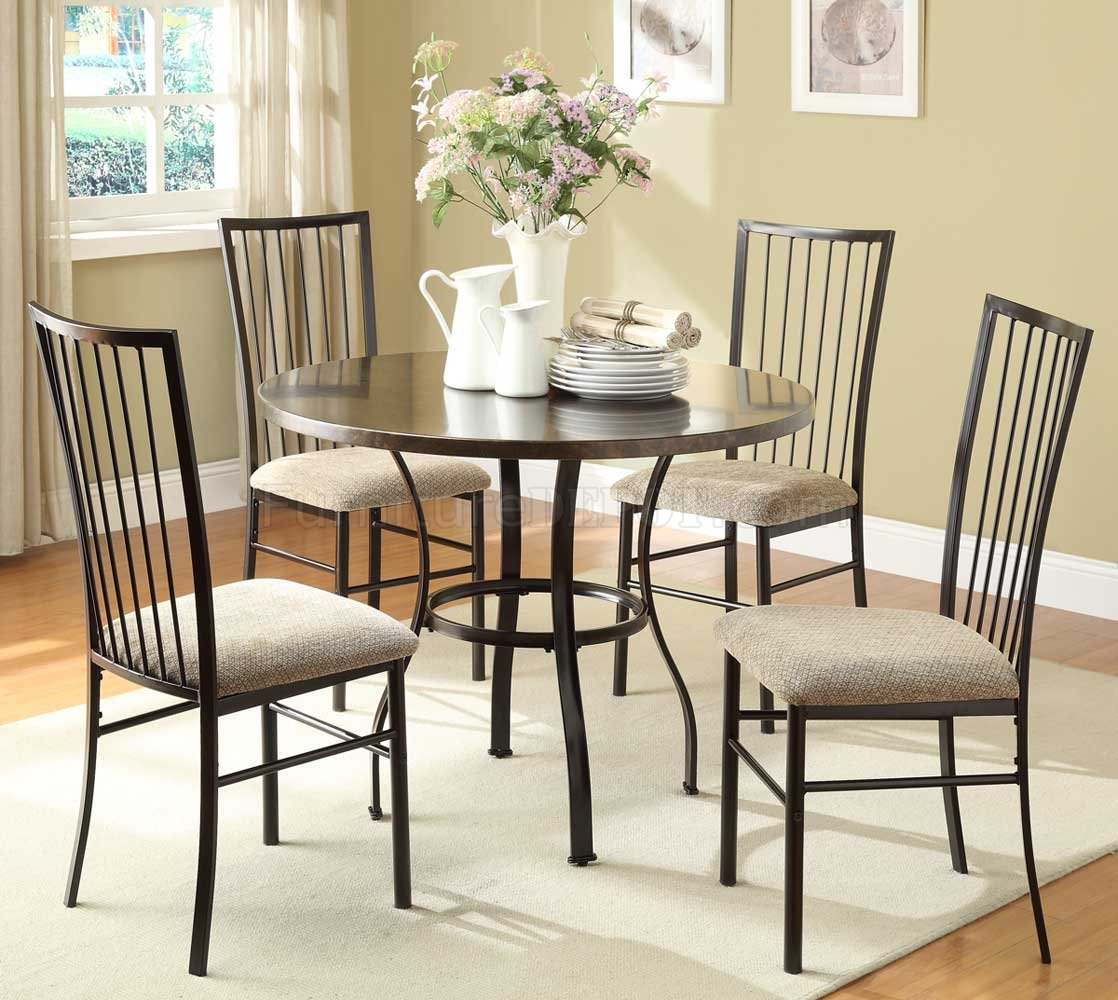 Carlson 2511 5pc Dinette Set By Homelegance In Coffee