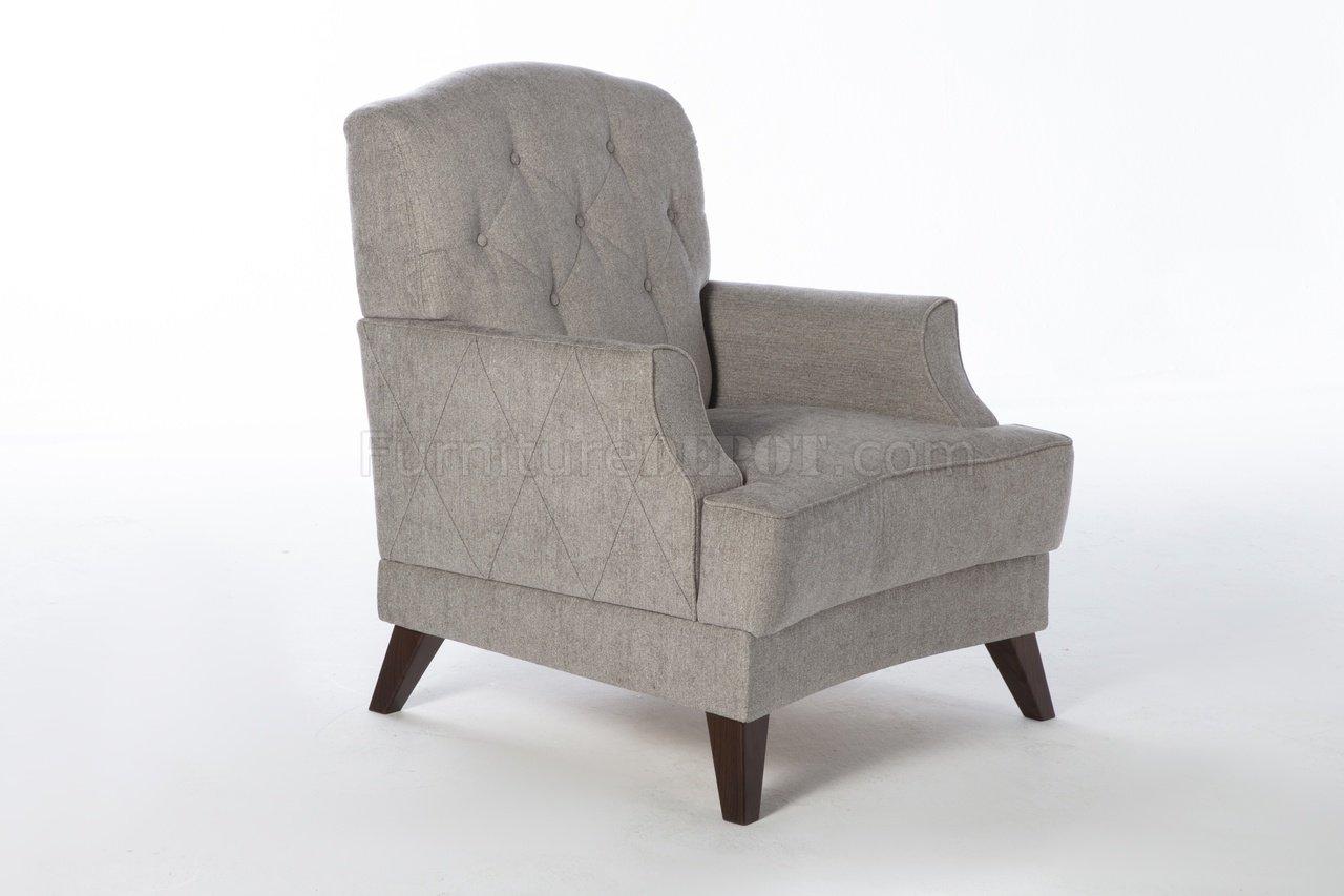 Siena Valencia Grey Sofa Bed In Fabric By Istikbal W Options