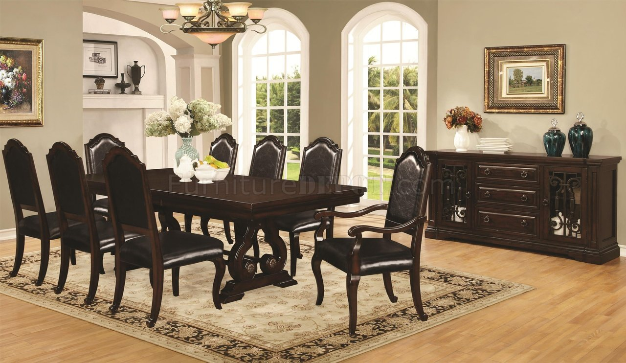 Bedford 105601 dining table in mahogany by coaster w options