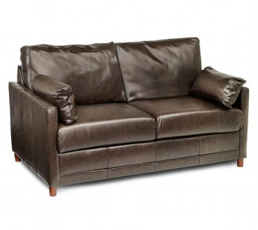Softee Sofa Bed In Chocolate Leather Match W Full Sleeper