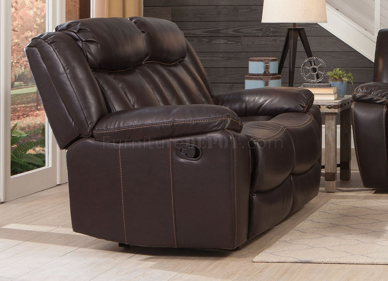 Bevington Motion Sofa Loveseat 602041 In Chocolate By