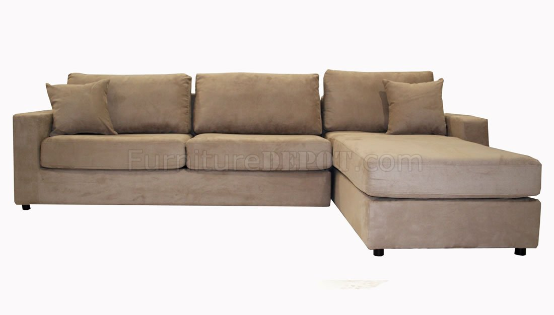 Microfiber Sectional Sofa with Pull-Out Bed AWSS Anaheim