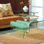 Curved Tempered Glass Modern Artistic Coffee Table