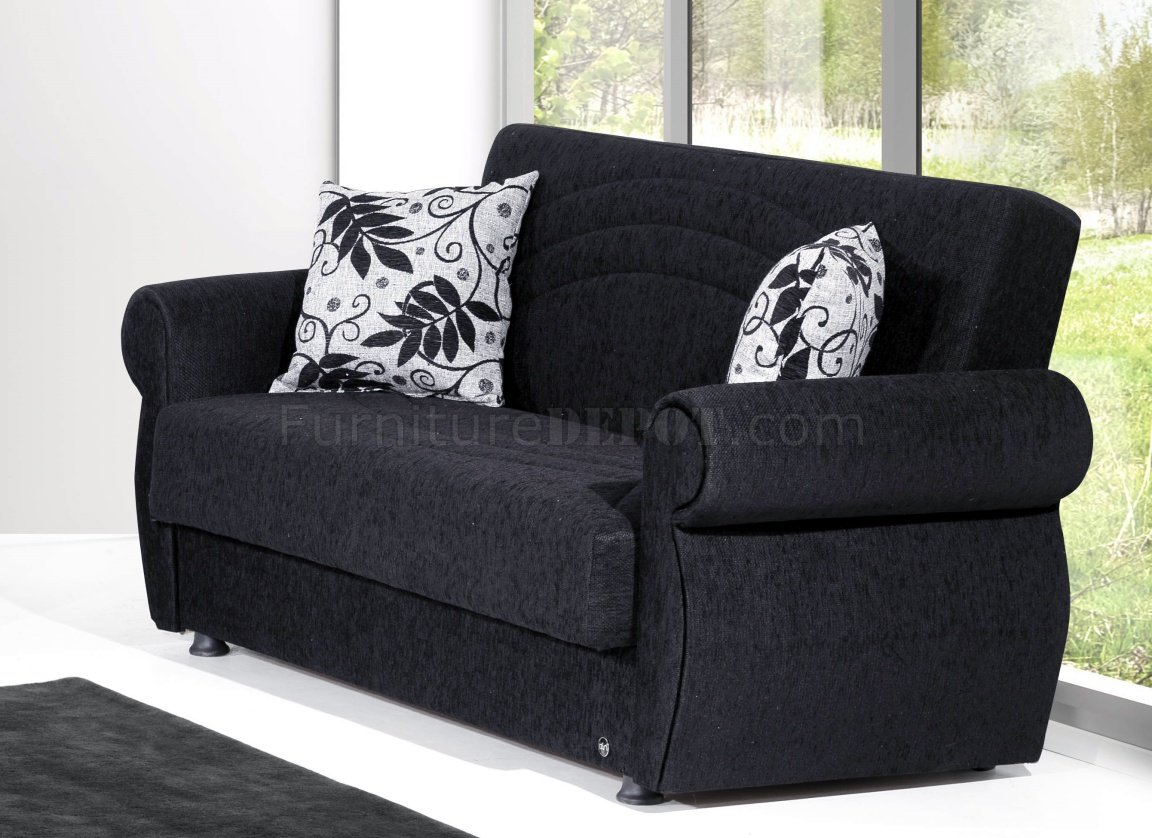 Rain sofa bed loveseat set in black chenille by rain w options Chenille sofa and loveseat